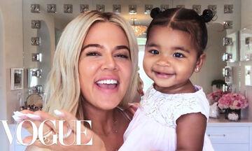 H True έκλεψε την παράσταση στο νέο βίντεο της μαμάς της Khloe Kardashian, που έκανε για τη Vogue