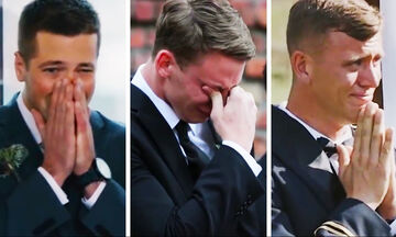 Και οι άνδρες κλαίνε! Γαμπροί συγκινούνται την ημέρα του γάμου τους και γίνονται viral (vid)