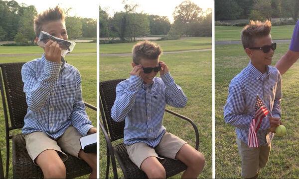 10χρονο αγόρι βλέπει για πρώτη φορά χρώματα - Ένα πολύ συγκινητικό βίντεο που έγινε viral (vid)