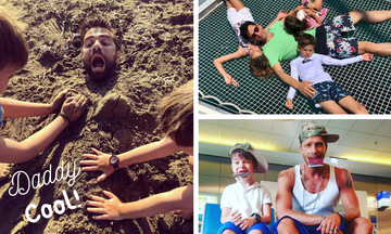 20 διάσημοι Έλληνες μπαμπάδες με τα παιδιά τους (pics)
