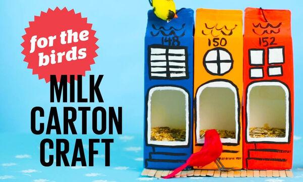 DIY - Φτιάξτε εντυπωσιακές ταΐστρες πουλιών για το μπαλκόνι από συσκευασίες γάλακτος (vid)