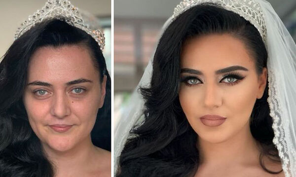 Αυτές οι φωτογραφίες γυναικών με & χωρίς το νυφικό μακιγιάζ τους είναι σίγουρα εντυπωσιακές (pics)