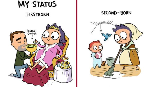 Η αλλαγή στη συμπεριφορά των γονιών μετά την απόκτηση δεύτερου παιδιού μέσα από σκίτσα (pics)