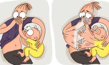 Πρώτη φορά μαμά: Η καθημερινότητά της σε 15 φανταστικά σκίτσα (pics)