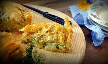 Πατσαβουριαστή πατατόπιτα με φύλλα κρούστας - Είναι και νηστίσιμη (vid)