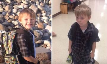 Αντιδράσεις παιδιών πριν και μετά την πρώτη μέρα στο σχολείο - Πρέπει να τις δείτε (vid)