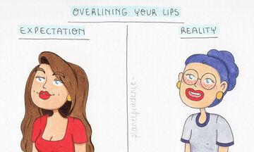 Πώς είναι πραγματικά η ζωή μιας γυναίκας (και ποιες οι προσδοκίες) μέσα από σκίτσα (pics)