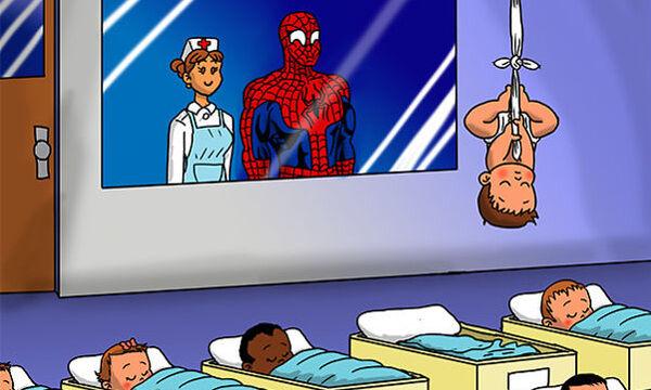 Οι αγαπημένοι μας σούπερ ήρωες σε ρόλο... μπαμπάδων! Πώς είναι άραγε τα νεογέννητα μωρά τους; (pics)