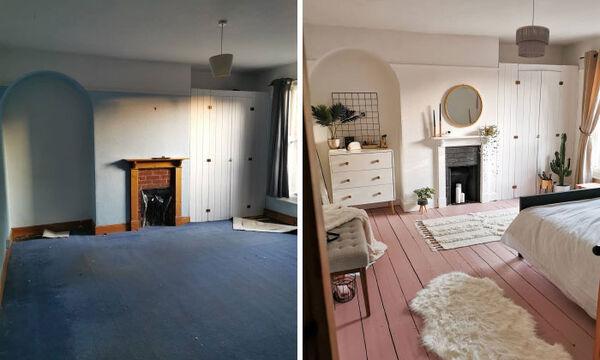 Ανακαίνισε μόνη της το υπνοδωμάτιο σε πέντε μέρες και το αποτέλεσμα ενθουσίασε το διαδίκτυο (pics)
