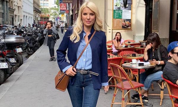 Ούτε Άνδρο, ούτε Αθήνα! Από τη Γαλλία μας χαιρετά η Ελένη Μενεγάκη (pics)