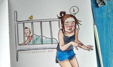 Η καθημερινότητα μίας μαμάς μέσα από απολαυστικά σκίτσα (pics)