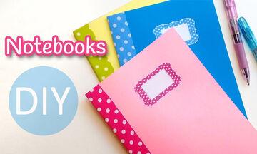 DIY - Υπέροχα χρωματιστά τετράδια για τη νέα σχολική χρονιά (vid)
