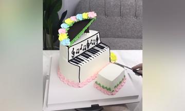 Τούρτα - πιάνο για τους μικρούς λάτρεις της μουσικής (vid)