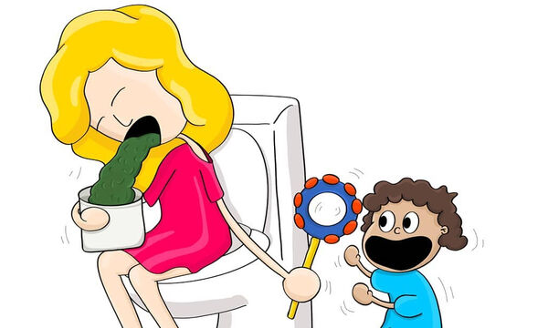 Αποτύπωσε όλες τις «τρελές» στιγμές της μητρότητας σε φανταστικά σκίτσα (pics)