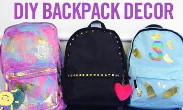 DIY - Τρεις υπέροχοι τρόποι για να διακοσμήσετε την σχολική τσάντα της κόρης σας (vid)