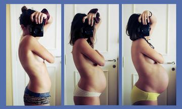 Οι εννέα μήνες της εγκυμοσύνης μέσα από δέκα υπέροχες selfies (pics)