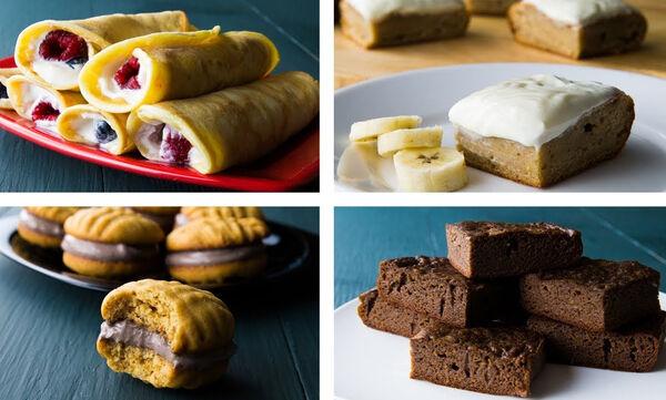 Τέσσερα εύκολα και νόστιμα γλυκά με λίγες θερμίδες (vid)