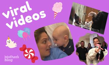 Η εβδομάδα τελείωσε και αυτά είναι τα ωραιότερα viral βίντεο με μαμάδες και παιδιά (vids)