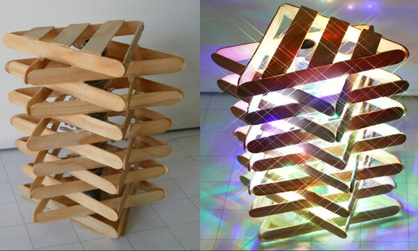 Φτιάξτε εύκολα και γρήγορα ένα εντυπωσιακό φωτιστικό από ξυλάκια - Δείτε πώς (vid)