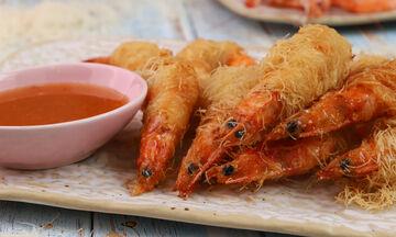 Συνταγή για γαρίδες με κανταΐφι