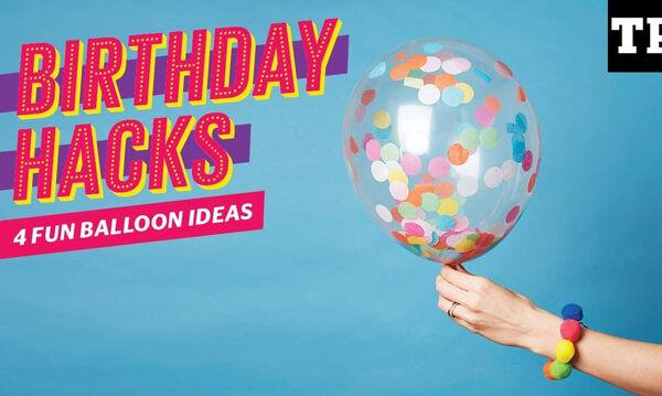 3 ευφάνταστοι τρόποι για να διακοσμήσεις τα μπαλόνια στο παιδικό πάρτι (vid)