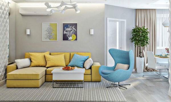 Η διακόσμηση που θα κάνει το καθιστικό σας να δείχνει πιο μεγάλο και φωτεινό (vid)