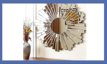 DIY - Φτιάξε και εσύ αυτόν τον εντυπωσιακό καθρέφτη για το σαλόνι ή το χολ (vid)