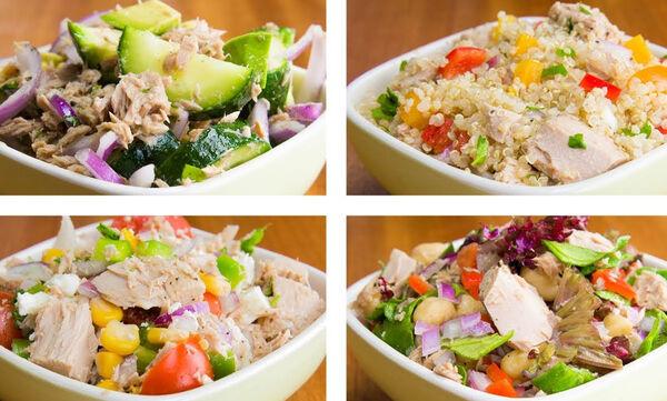 Αυτές οι σαλάτες με τόνο είναι ιδανικές για απώλεια βάρους (vid)