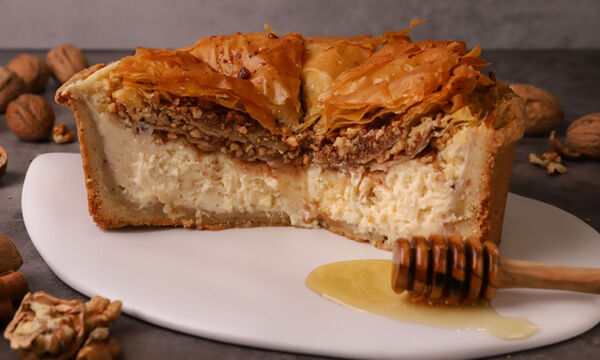 Cheesecake με μπακλαβά - Ένα πρωτότυπο και ιδιαίτερο γλυκό