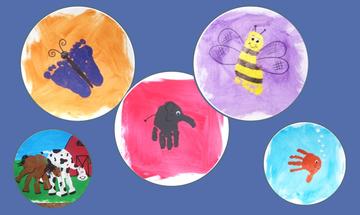 Φτιάξτε 5 υπέροχες χειροτεχνίες με ζωάκια χρησιμοποιώντας τα αποτυπώματα του παιδιού σας (pics)
