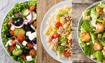 Πρωτότυπες σαλάτες με πέντε υλικά η κάθε μία - Ιδανικές για όλες τις ώρες (vid)