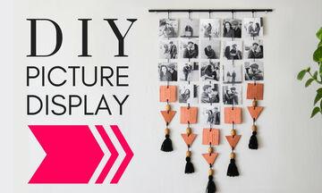 Υπέροχη κατασκευή για να στολίσετε φωτογραφίες στον τοίχο του σπιτιού σας (vid)