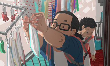 Μπαμπάς ζωγραφίζει την καθημερινότητα με τον γιο του και τα έργα του είναι πραγματικά υπέροχα (pics)