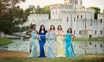 Έγκυες μαμάδες μεταμορφώνονται σε πριγκίπισσες της Disney και οι φώτο τους μαγεύουν  (pics)
