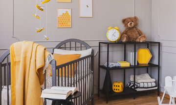 Είκοσι υπέροχες προτάσεις για παιδικά δωμάτια σε κίτρινο και γκρι χρώμα (vid)