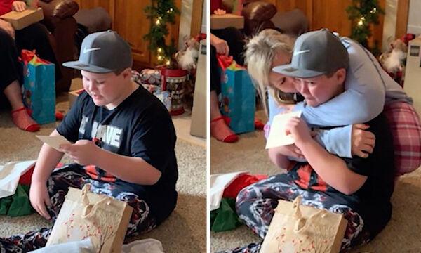 Αυτό το αγόρι πήρε το καλύτερο δώρο για τα Χριστούγεννα - Θα το θυμάται για πάντα (vid)