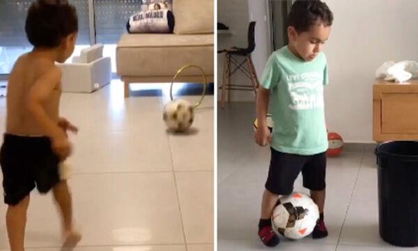 Πεντάχρονος κάνει εντυπωσιακά κόλπα με τη μπάλα και γίνεται viral (vid)