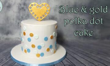 Υπέροχη & μίνιμαλ πουά τούρτα - Δείτε πώς θα τη φτιάξετε βήμα βήμα (vid)