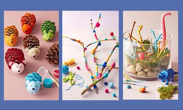 Τρεις φθινοπωρινές κατασκευές για παιδιά εμπνευσμένες από τη φύση (pics)