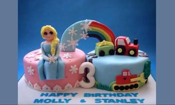 Εντυπωσιακές τούρτες γενεθλίων για δίδυμα  - Δείτε τις και πάρτε ιδέες (vid)