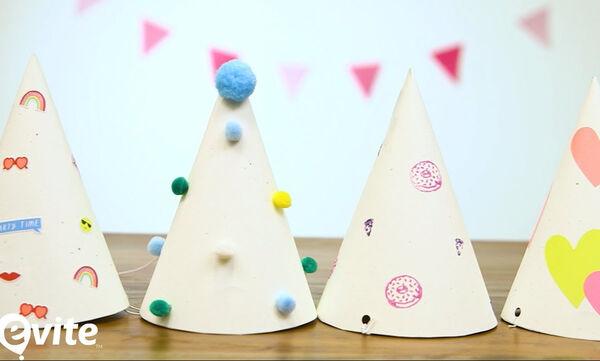 DIY χάρτινα καπέλα για τους καλεσμένους του παιδικού πάρτι - Δείτε πώς θα τα φτιάξετε (vid)