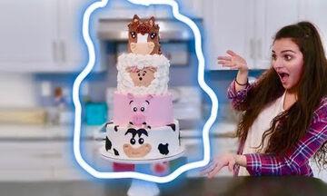 Εντυπωσιακή τούρτα-φάρμα για αγόρια & κορίτσια - Δείτε πώς θα τη φτιάξετε (vid)
