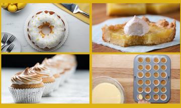 Τέσσερα λαχταριστά γλυκά με λεμόνι (vids)