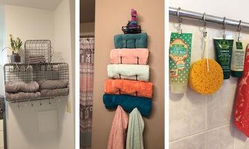 Έξυπνες ιδέες αποθήκευσης για μικρό και μεγάλο μπάνιο (vid)