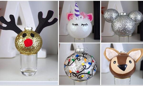 Επτά εύκολα & υπέροχα χριστουγεννιάτικα στολίδια που μπορείτε να φτιάξετε με το παιδί σας (vid)