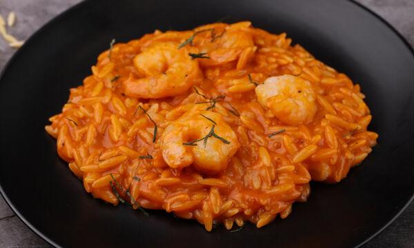 Συνταγή για πεντανόστιμο κριθαρότο με γαρίδες