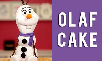 Εντυπωσιακή τούρτα Οlaf για αγόρια & κορίτσια - Ό,τι πρέπει για χειμωνιάτικα γενέθλια (vid)