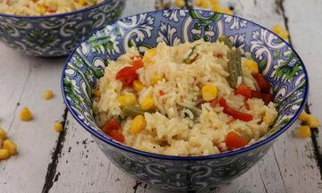Συνταγή για ρύζι με λαχανικά
