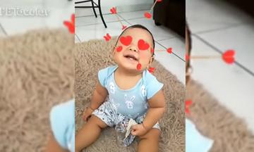 Όταν τα μωρά χρησιμοποιούν τα φίλτρα των social media (vid)