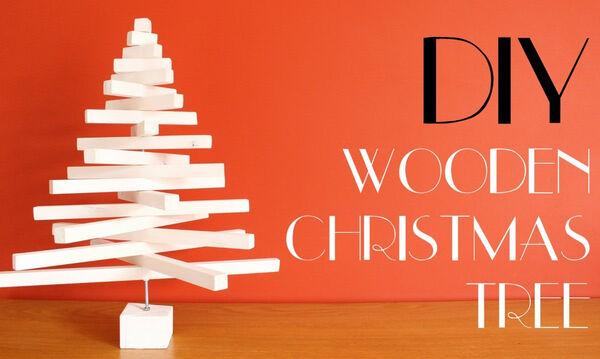 Φτιάξτε ένα υπέροχο χριστουγεννιάτικο δεντράκι από ξύλο - Δείτε πώς (vid)